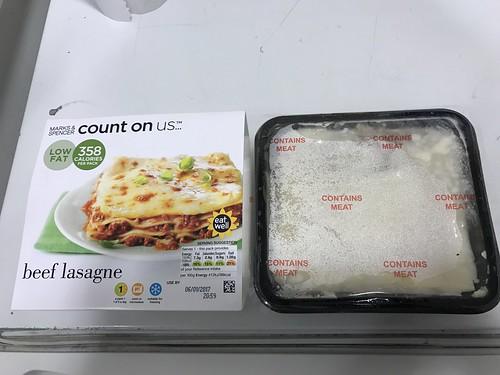 Marks & Spencer beef lasagne