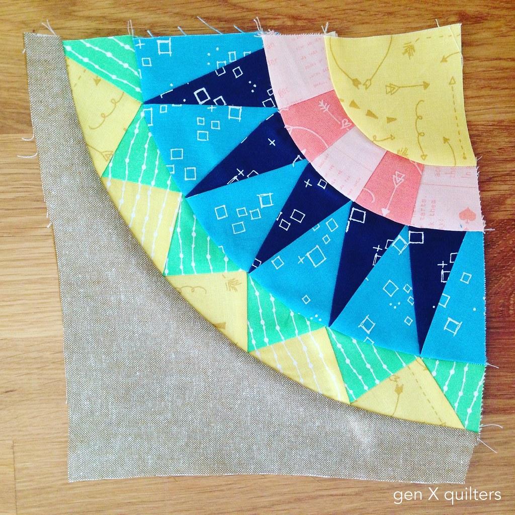 Hoop Quilt #1 Wonky Quadrant_Fotor