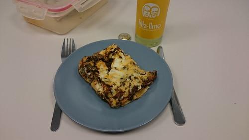 Lasagne mit Grünkohl (Rest am nächsten Tag im Büro)