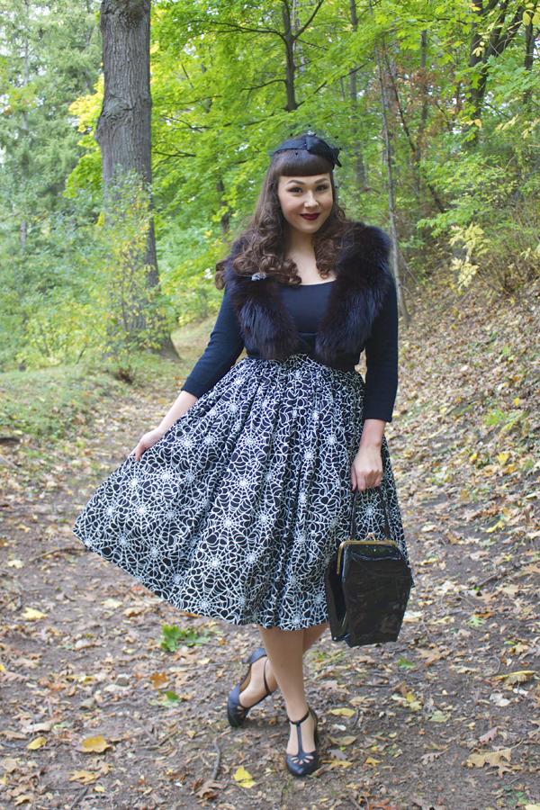 pinup girl clothing jenny skirt spiderweb