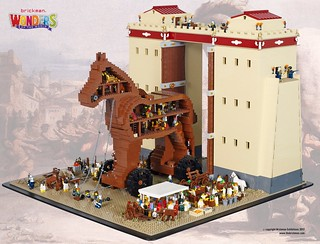 how to make a trojan horse out of legos