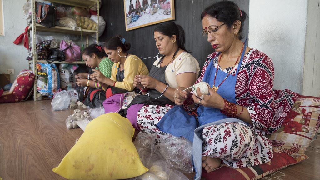 Women Knit Handicrafts Women Knit Handicrafts For Export A Flickr