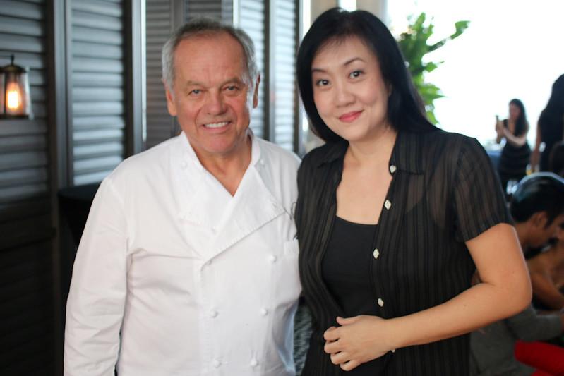 Wolfgang Puck and me at Spago, Marina Bay Sands
