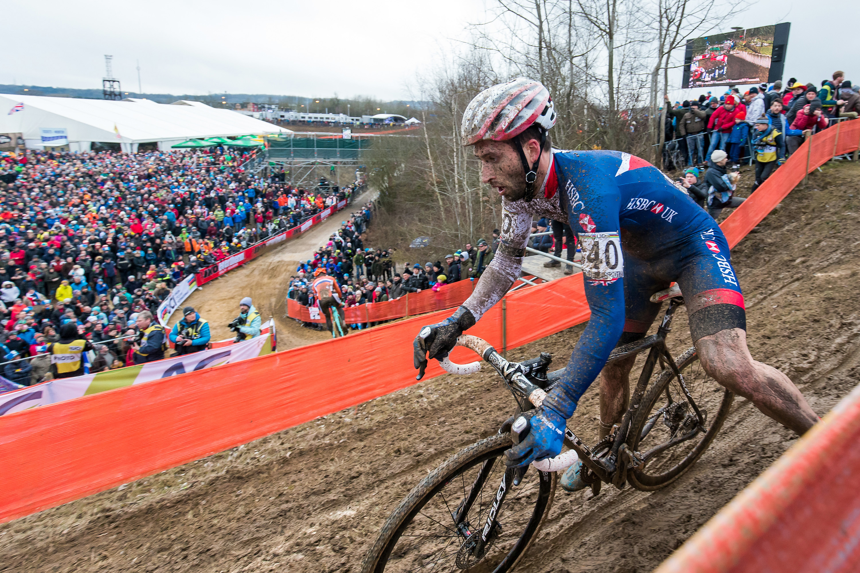 Great Britain Cycling Team at the 2017 UCI Cyclo-cross World Championships - day two