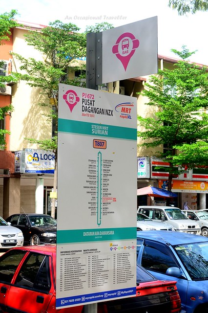 MRT feeder bus stop sign