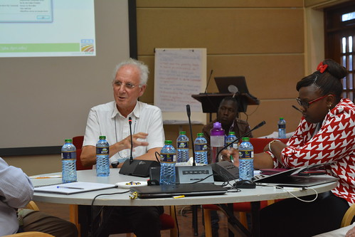 Sir Brian Heap makes a point at B4FA Animal Genetics for Africa Workshop | by International Livestock Research Institute