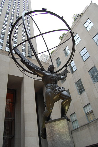 Atlas en el Rockfeller Center