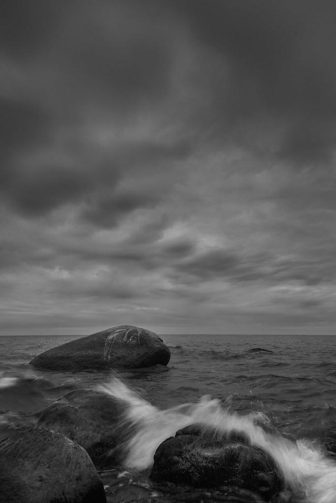 Erratic block in the baltic sea