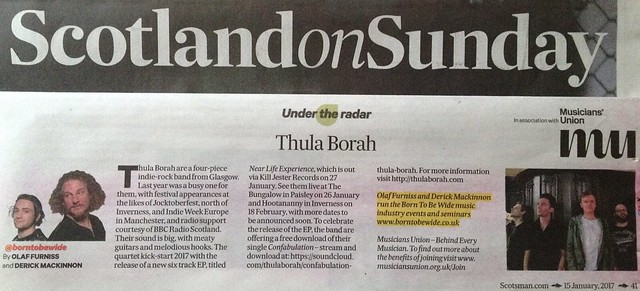 Scotland On Sunday, 15 January 2017, Thula Borah