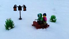 Sledding in a Winter Wonderland by NS Brick Designs