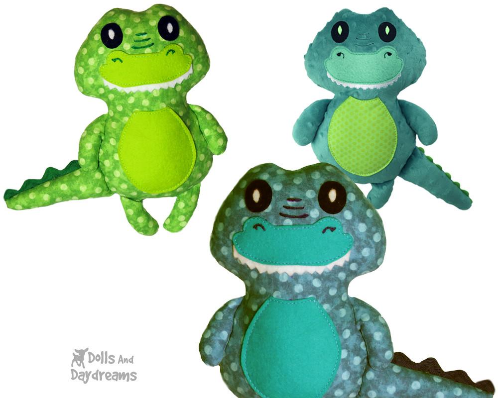 Crocodile Sewing Pattern Croc Softie Diy Alligator Plushie Flickr