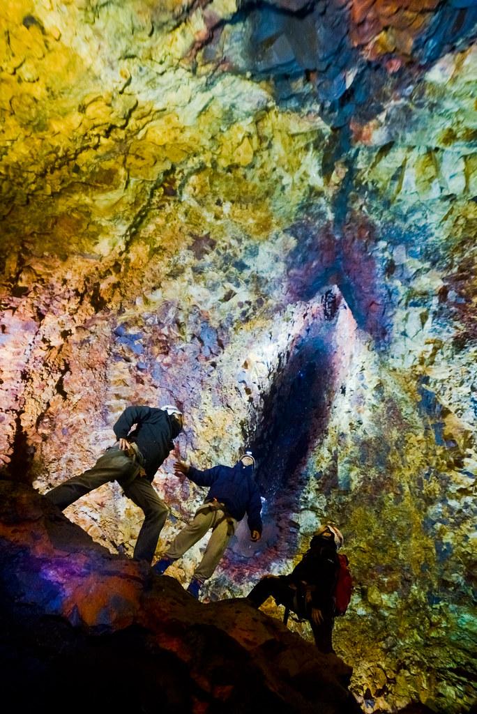 Flipando en el interior del volcán de islandia