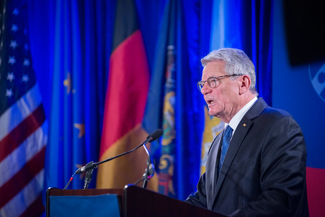 German President Joachim Gauck at Penn
