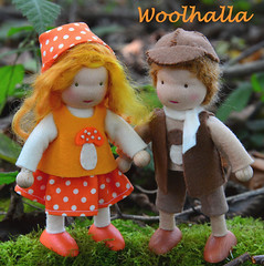 Mushroom Dollhouse Dolls