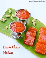 Corn flour halwa/Karachi Halwa