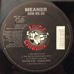 MEANER:IT'S BEEN A LONG TIME(REAL RAP SONG)(LABEL SIDE-B)