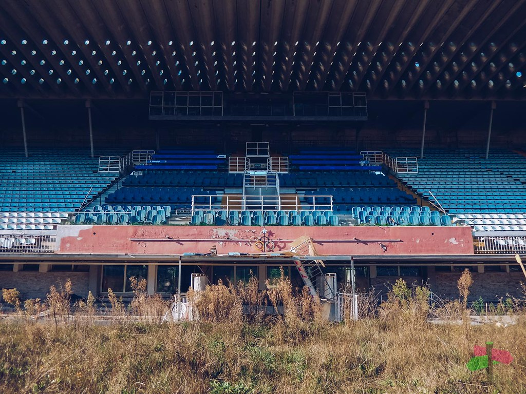 Abandoned Olympic stadium in Rome