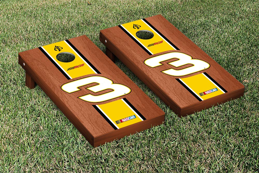 AUSTIN DILLON #3 CORNHOLE GAME SET ROSEWOOD STAINED CHEERIOS STRIPE VERSION