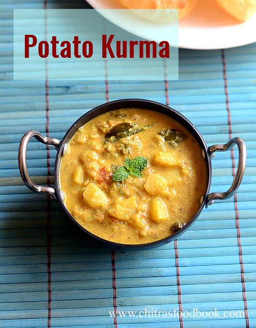 Potato kurma recipe for poori