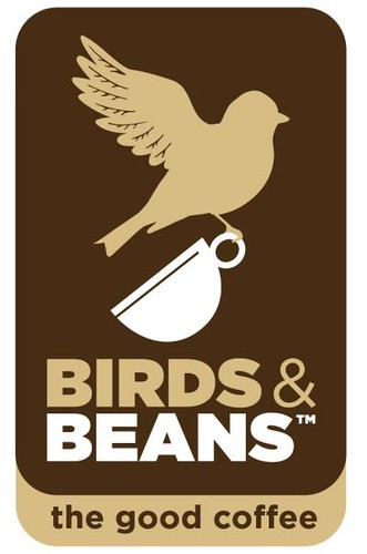Birds and Beans logo vertical