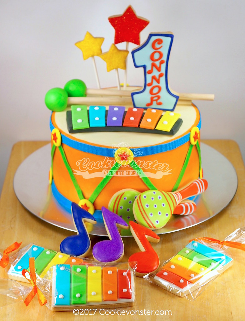 Connors First Music Themed Birthday Party Cookie Decorate Flickr