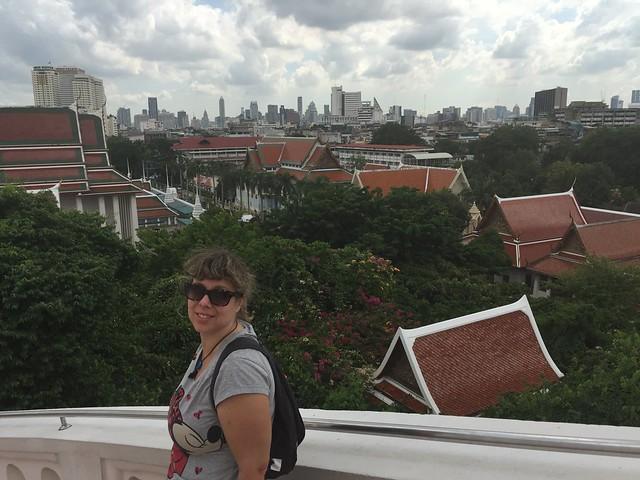 Rebeca en el Monte Dorado de Bangkok (Tailandia)