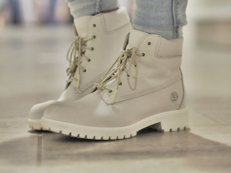 timberland inch premium white shoes