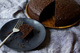 a chocolate olive oil cake