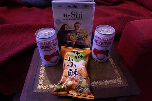 Mini Reiscracker und Lychee-Saft zum Film