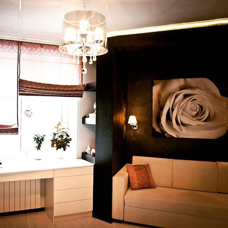 Дизайн комнаты для девушки с диваном