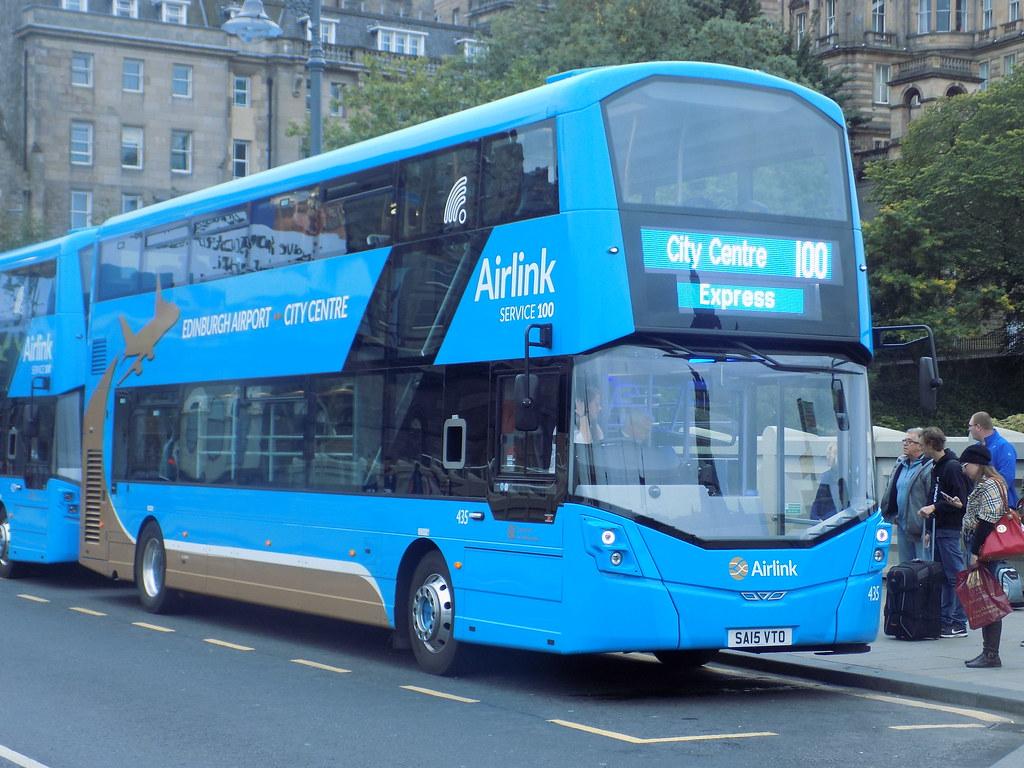 0435 Sa15 Vto Lothian Buses Airlink Volvo B5tl Wright Gemi
