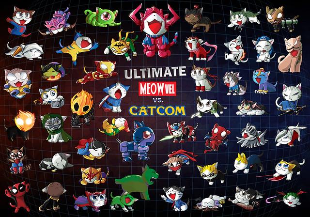 Cats vs Marvel vs Capcom by suzuran