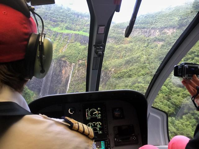 Helicóptero sobre Isla Reunión