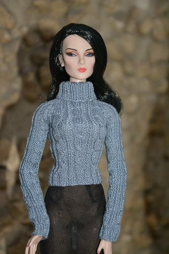 Gray pullover for doll | by pechenuha1