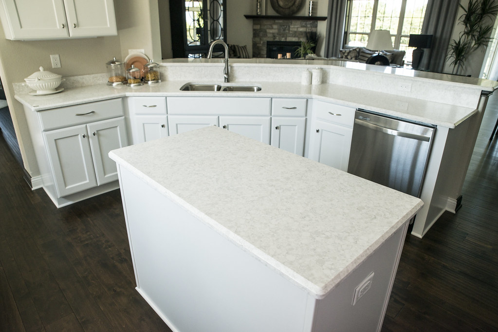 Dupont Zodiaq Stratus White Kitchen Countertop And