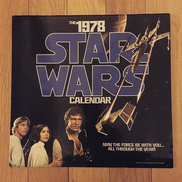 Legit 1978 Star Wars calendar (the year Dollar and I were born) and the dates work for 2017! Best eBay purchase ever.