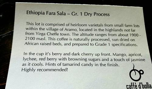 Ethipia Fara Sala - Gr. 1 Dry Process