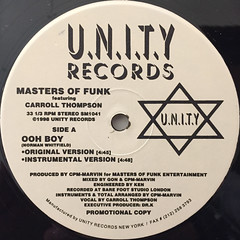 MASTERS OF FUNK:OOH BOY(LABEL SIDE-A)