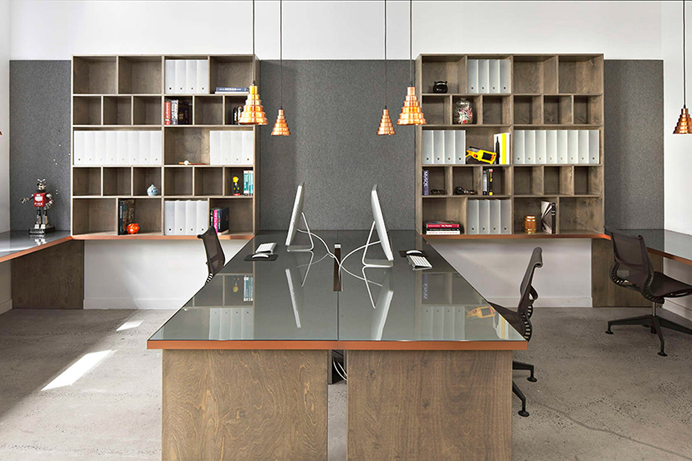 Office space design of the former firehouse in New York Sundeno_08