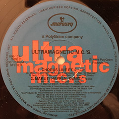 ULTRAMAGNETIC MC'S:MAKE IT HAPPEN(LABEL SIDE-B)