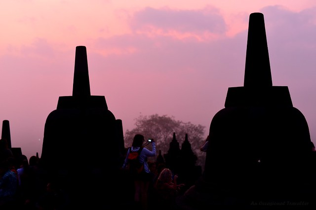 Dawn at Borobudur Temple