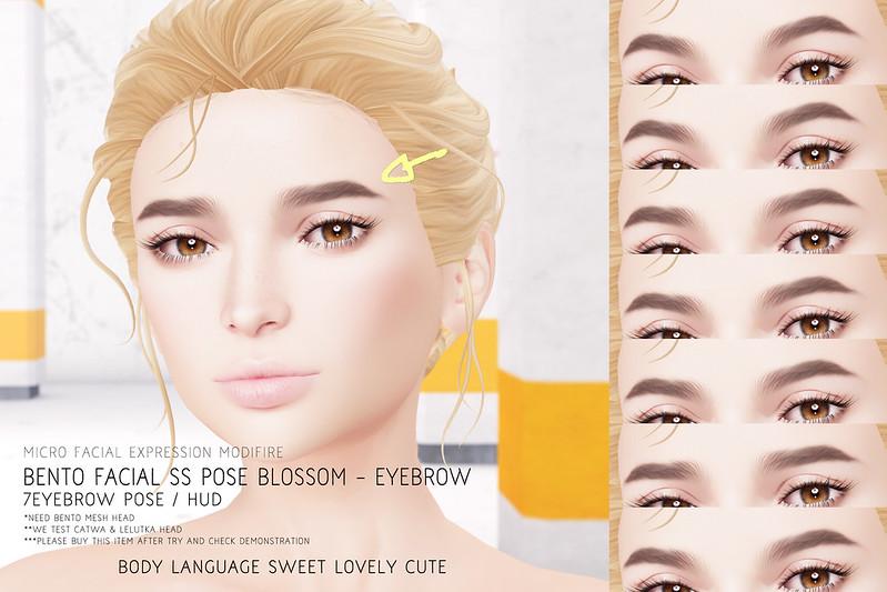 Facial SS POSE Blossom - Eyebrow @ Kustom9