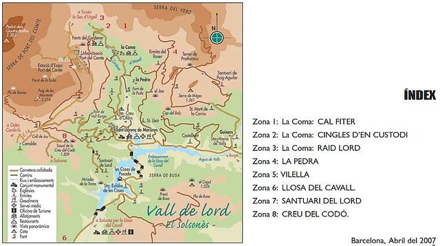 La vall de Lord -08- Distribución de los sectores según la guía del K i del Pere