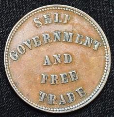 1857 Prince Edward Island Self Government Token reverse