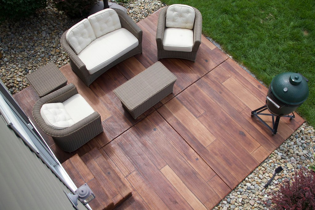 ... Concrete Wood Patio With Furniture   Innovative Spaces   South Bend IN  | By Decorative Concrete