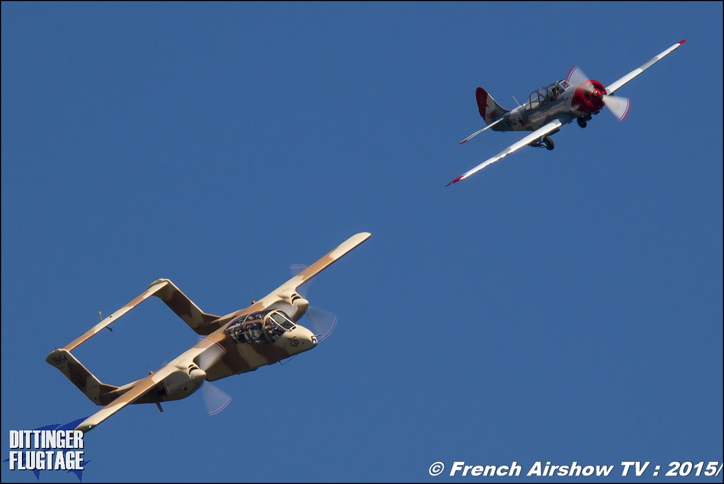 Yakovlev Yak-52 LY-HLZ , Yak-52 and OV-10 Bronco montelimar, , Dittinger Flugtage 2015 , Internationale Dittinger Flugtage, Meeting Aerien 2015