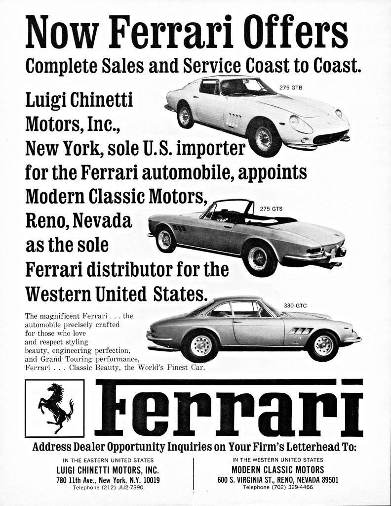 1966 Ferrari U S Distributor Ad Alden Jewell Flickr