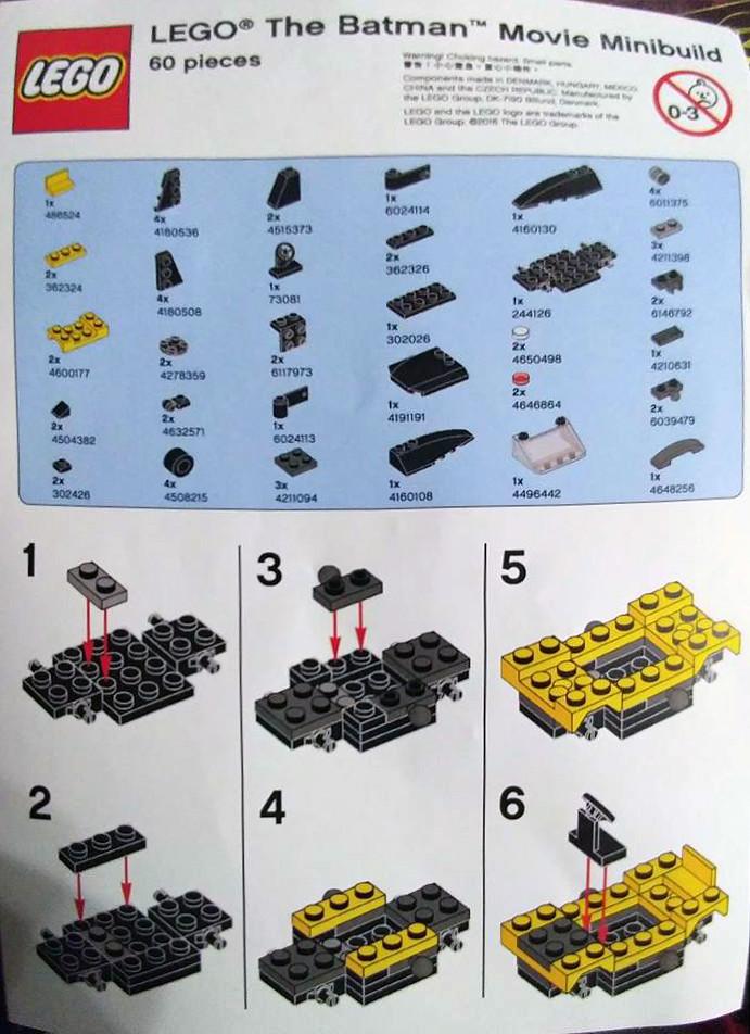 brickfinder lego batman movie mini batmobile instructions. Black Bedroom Furniture Sets. Home Design Ideas