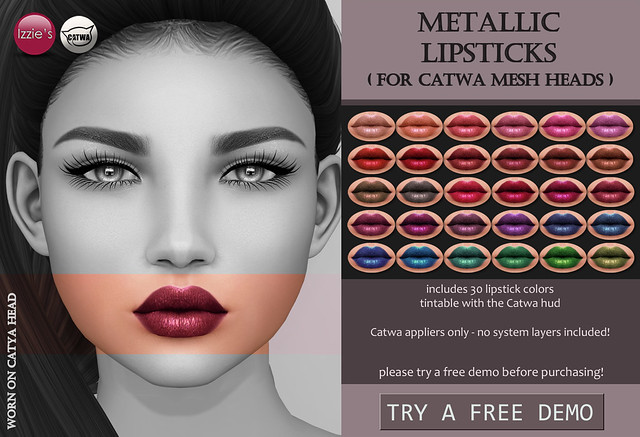 Metallic Lipsticks (Catwa)