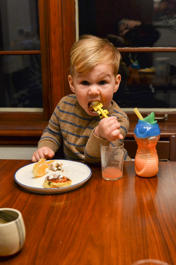 What Theo's Eating, Syrniki {Russian Farmer's Cheese Pancakes}, Plus OMG He's Two Years Old | Things I Made Today